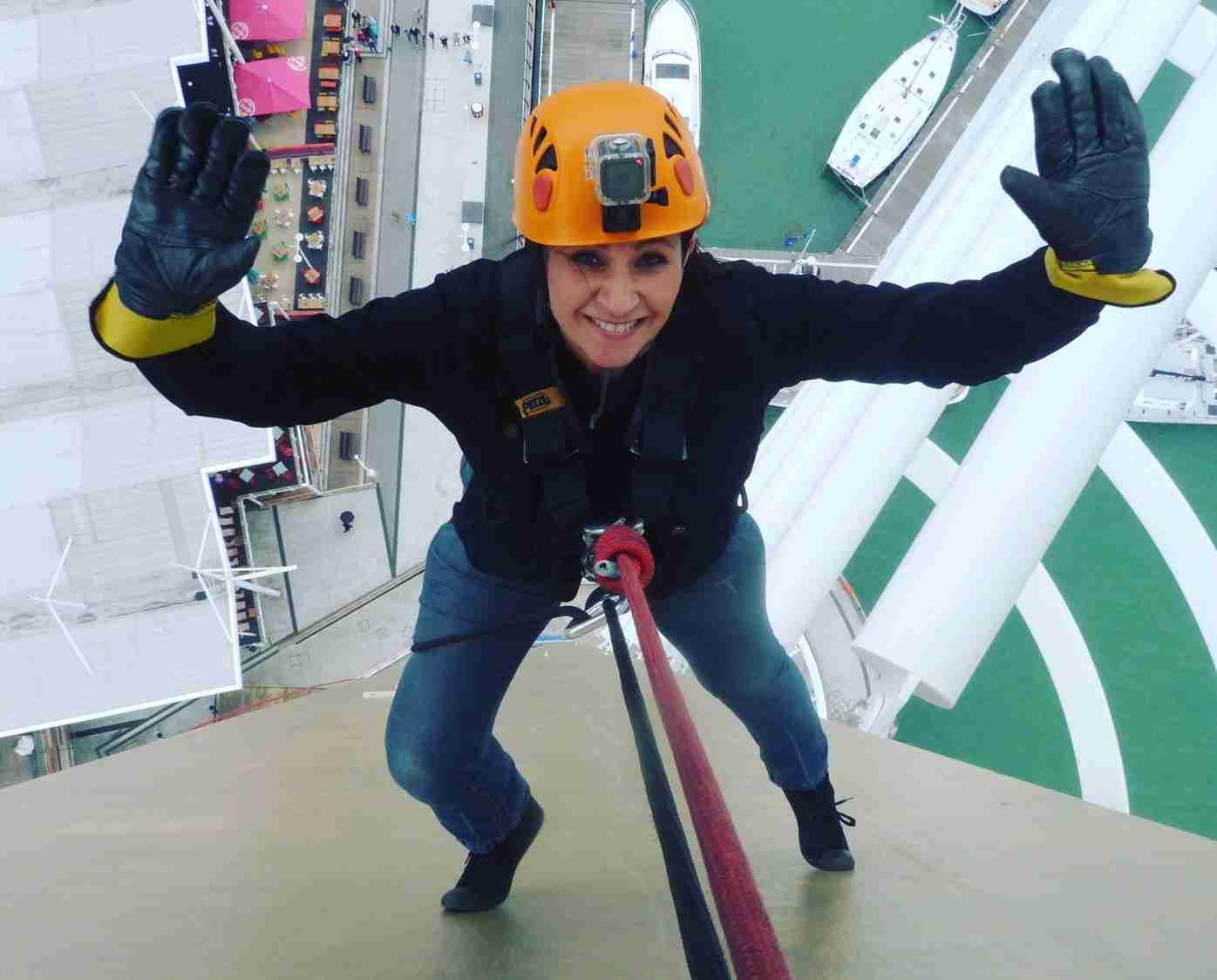 Tania Sullivan Spinnaker Tower Abseil