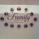 family photo wall feature