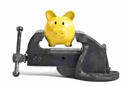 Piggy bank in vice