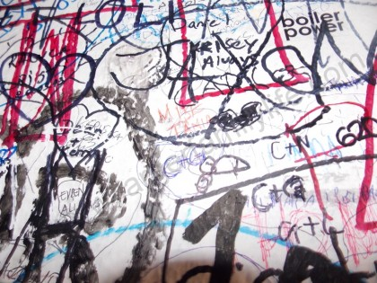 Can you find our names on Juliet's wall?