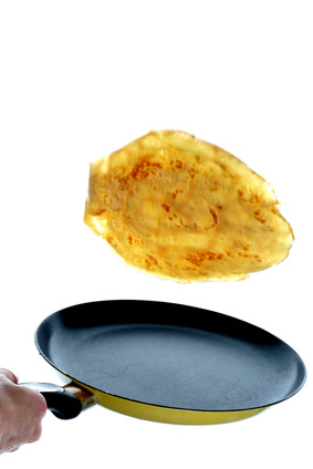 Tossing a Pancake