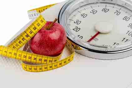 bathroom scales, losing weight