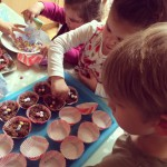 Bel, Libby Paddy making Easter Nests