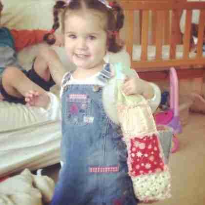 Isobel loves her new bag!