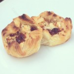 Sun-dried tomato and feta parcels