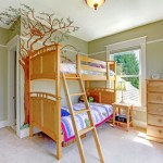 Child's bedroom with double bulk bed.
