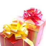 gifts in red and pink box