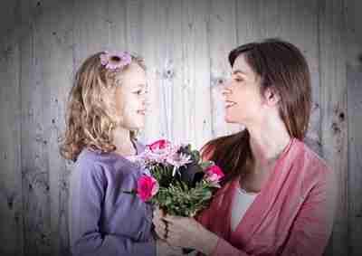 Tochter und Mutter zum Muttertag