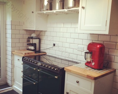 handmade kitchen cooker side