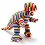 stripy knitted trex