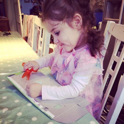 Isobel making... I'm not quite sure what but she's concentrating so it must be important.