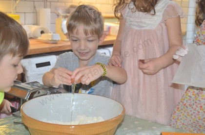 You can't make a pasta dough without breaking some eggs... so Paddy gets onto the job...