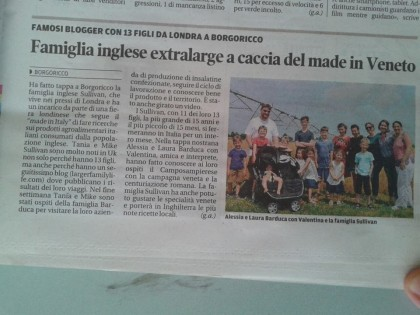 sullivan family in italian newspaper june 2015