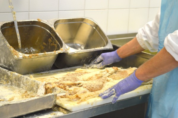 Once again, all preparation is done by hand just as it would be in a restaurant