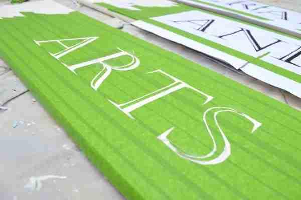 cut out letters - remove paper