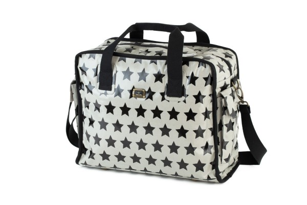 Caboodle Fun & Funky Black Stars on White