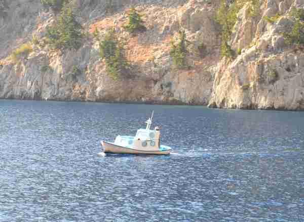 boat on symi