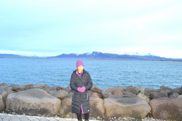 A walk by the Icelandic seafront in November is brisk, to say the least!