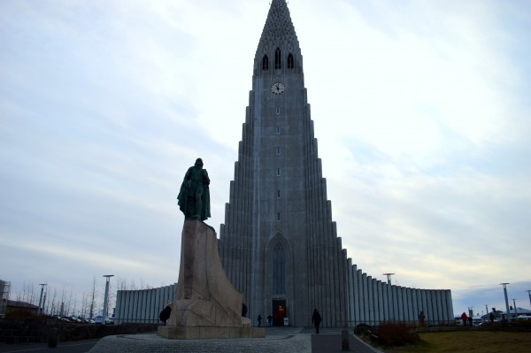 The Hallgrímskirkja. At 73 metres tall it is the sixth largest structure in Iceland and its tallest church.