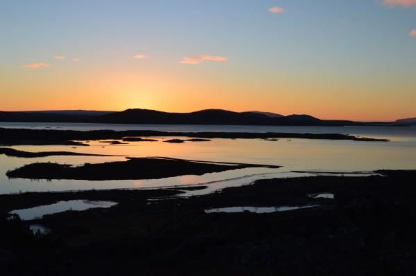 Watching the sun rise over Þingvellir National Park was mesmerising