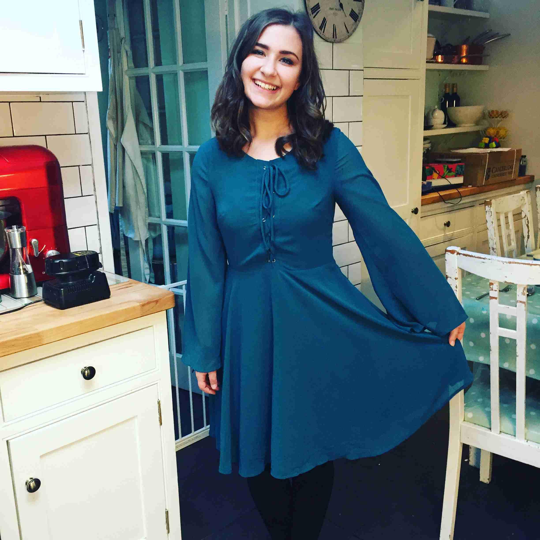 Cait House of Fraser green dress