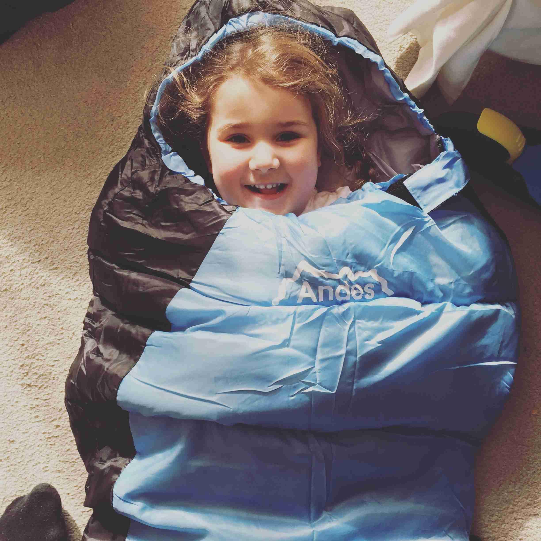 Bel in sleeping bag