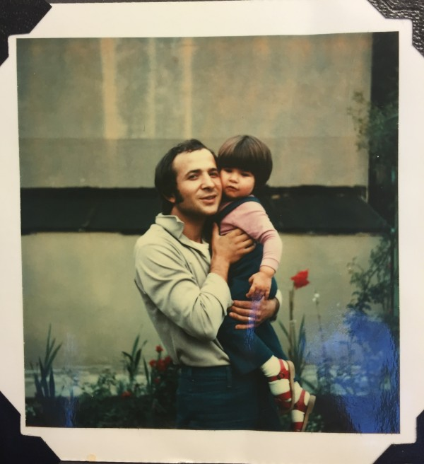 toddler me and dad yiayia and papus garden