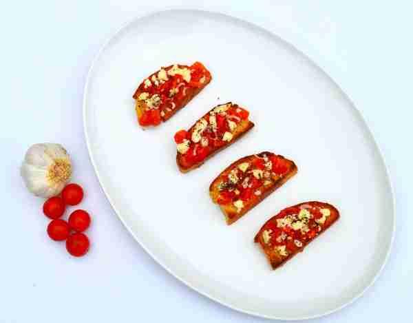 Tomato and Feta Bruschetta
