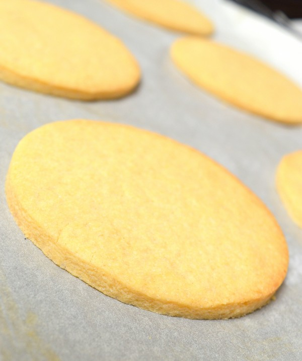 Leave the biscuits to cool on the trays
