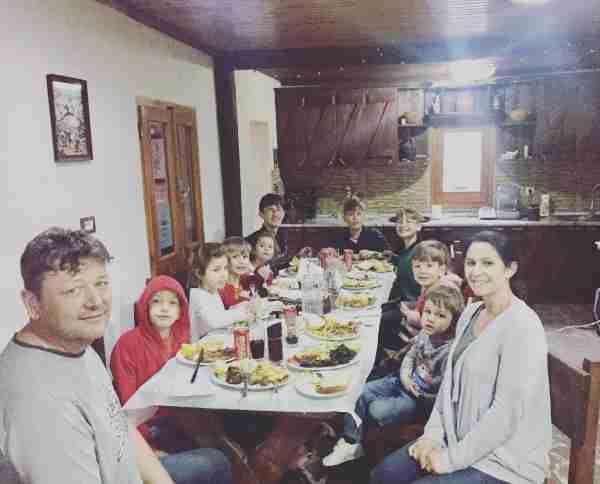 albania farma sotira sullivan family dinner