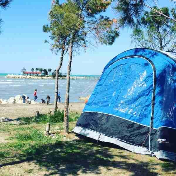 albania kamping pa emer tent on beach