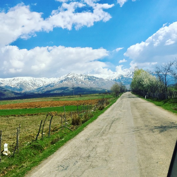 albania road to farma sotira