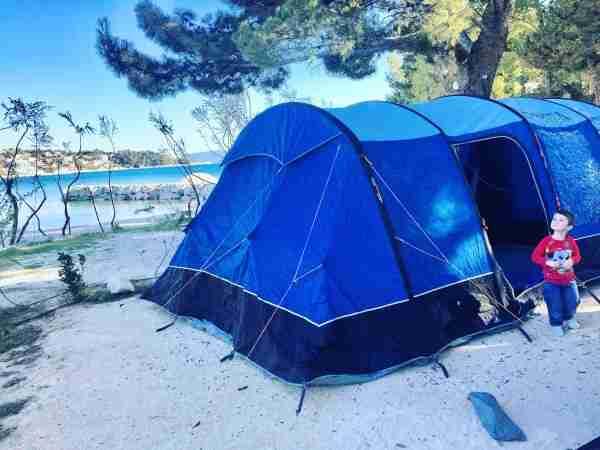 croatia camping split vango rivendale on beach with tim