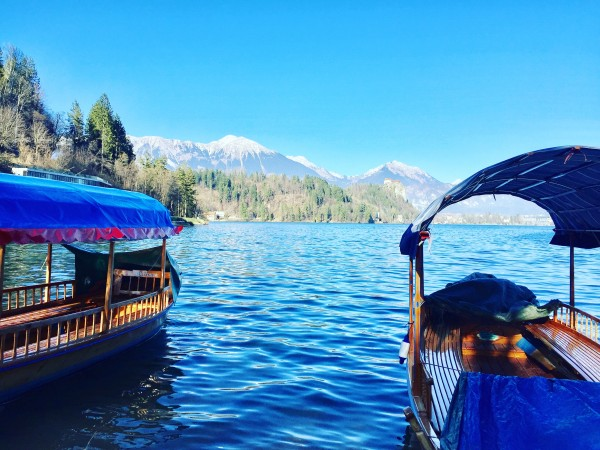 slovenia lake bled boats