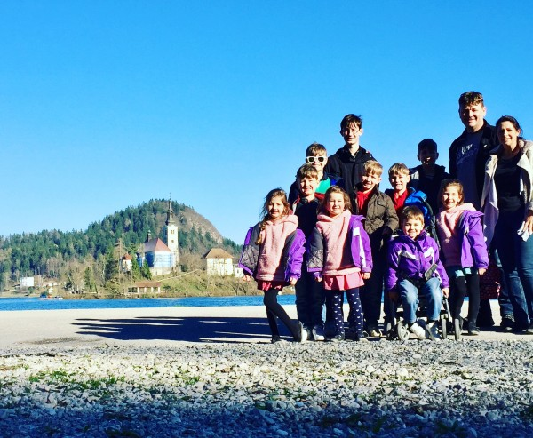 slovenia lake bled sullivan family pic