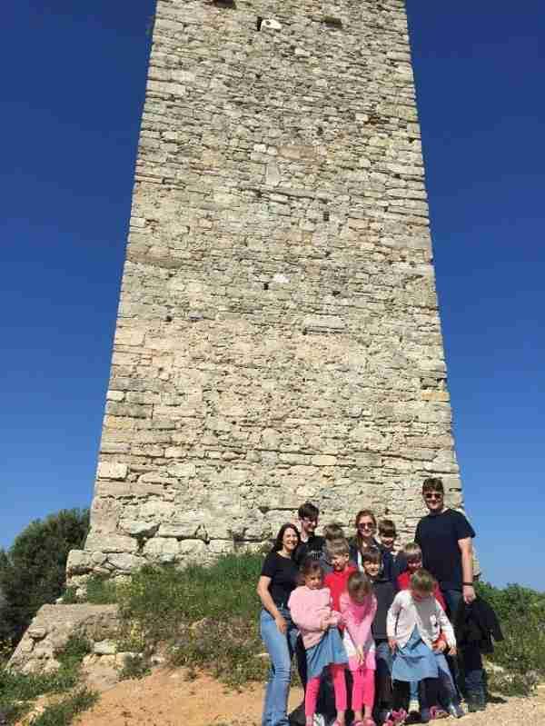 byzantine tower nea fokea halkidiki