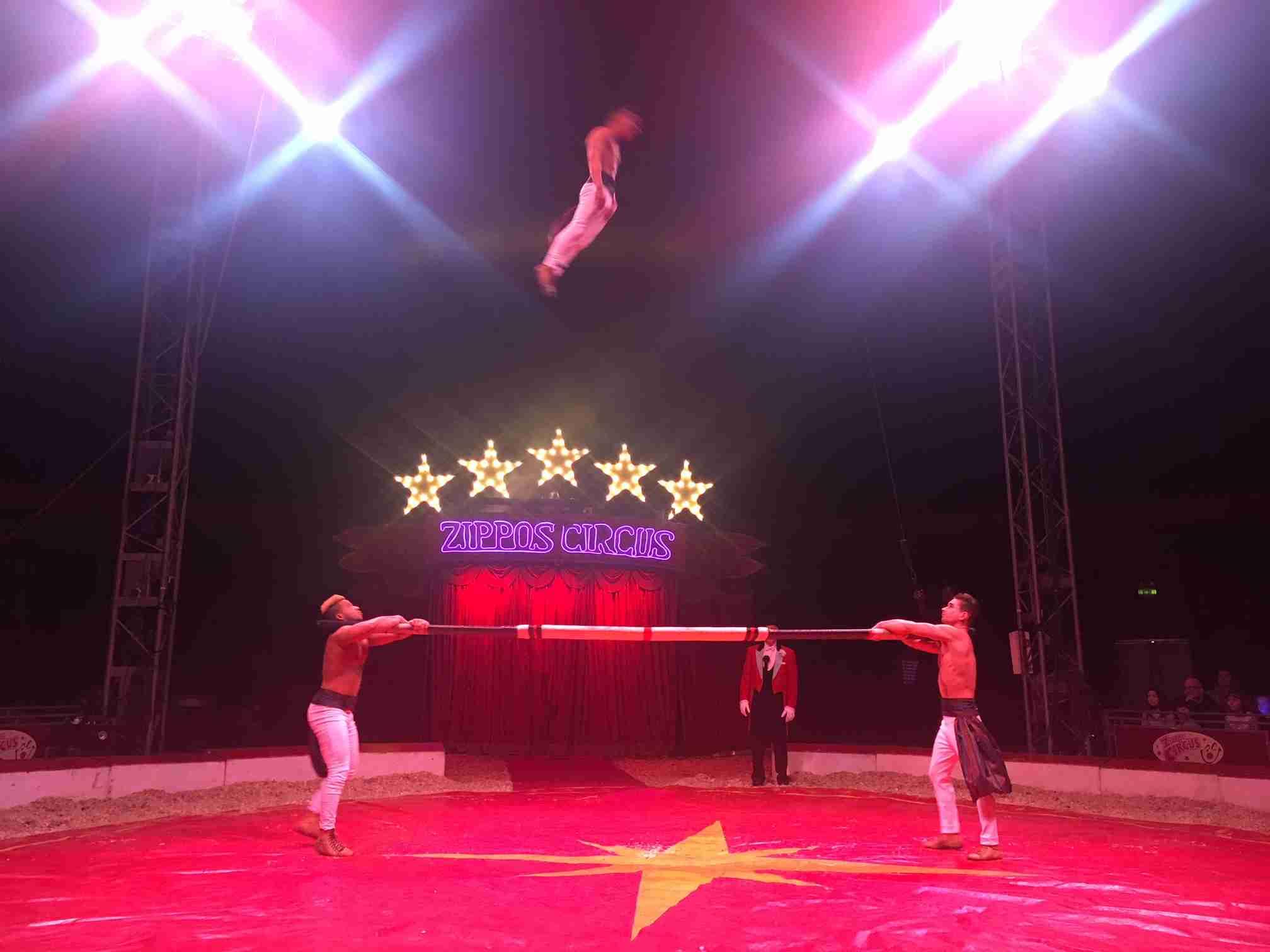 Zippos Circus Russian Bar acrobats 2