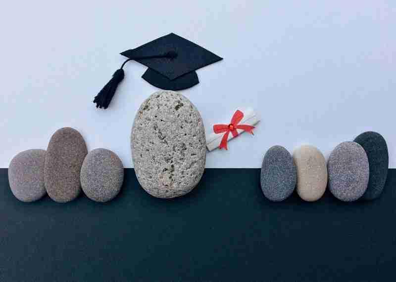 graduation pebbles