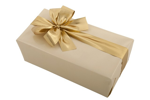 gold ribbon gift