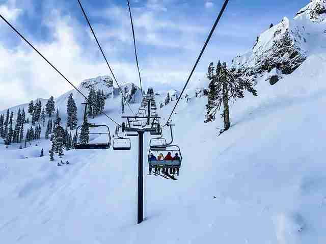 family skiing holiday